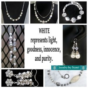 Handcrafted White Bracelets, Earrings, Necklaces